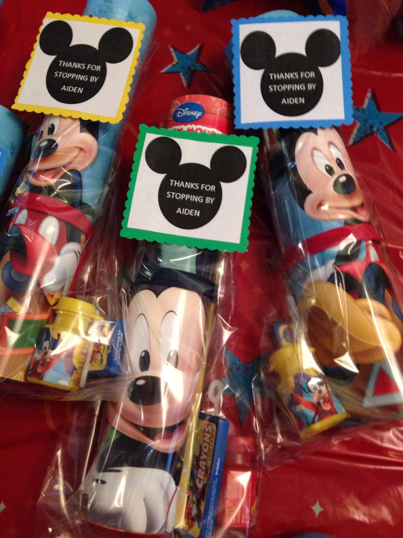 Mickey Mouse Birthday Goodie Bags Coloring Book Crayons Mickey Bubbles Fiesta Mickey Mouse Fiesta Mickey Minnie Party