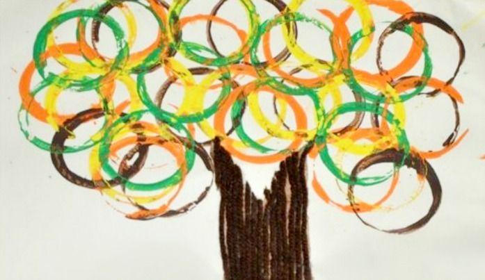 Fall Tree Kids Craft #falltrees