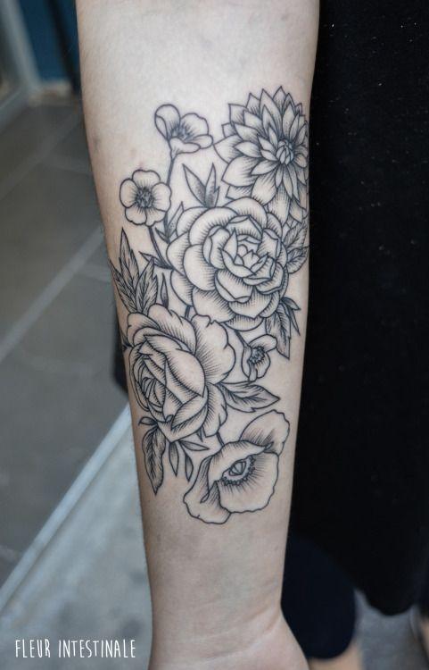 Tatouage Par Fleur Intestinale Sophie Hedon Flowertattoo