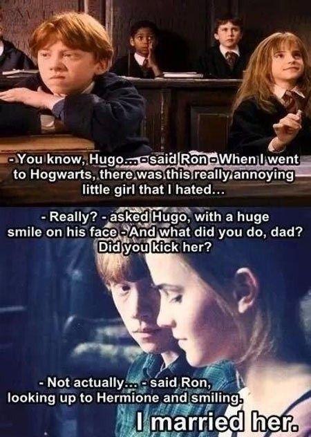 Ron Weasley S Love Story Harry Potter Memes Harry Potter Jokes Harry Potter Obsession