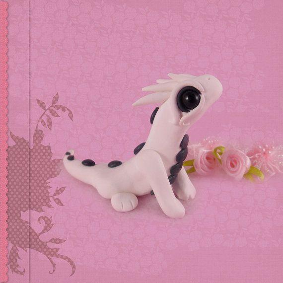 Dragon figur handmade polymer clay cute figurine fantasy by Siachi