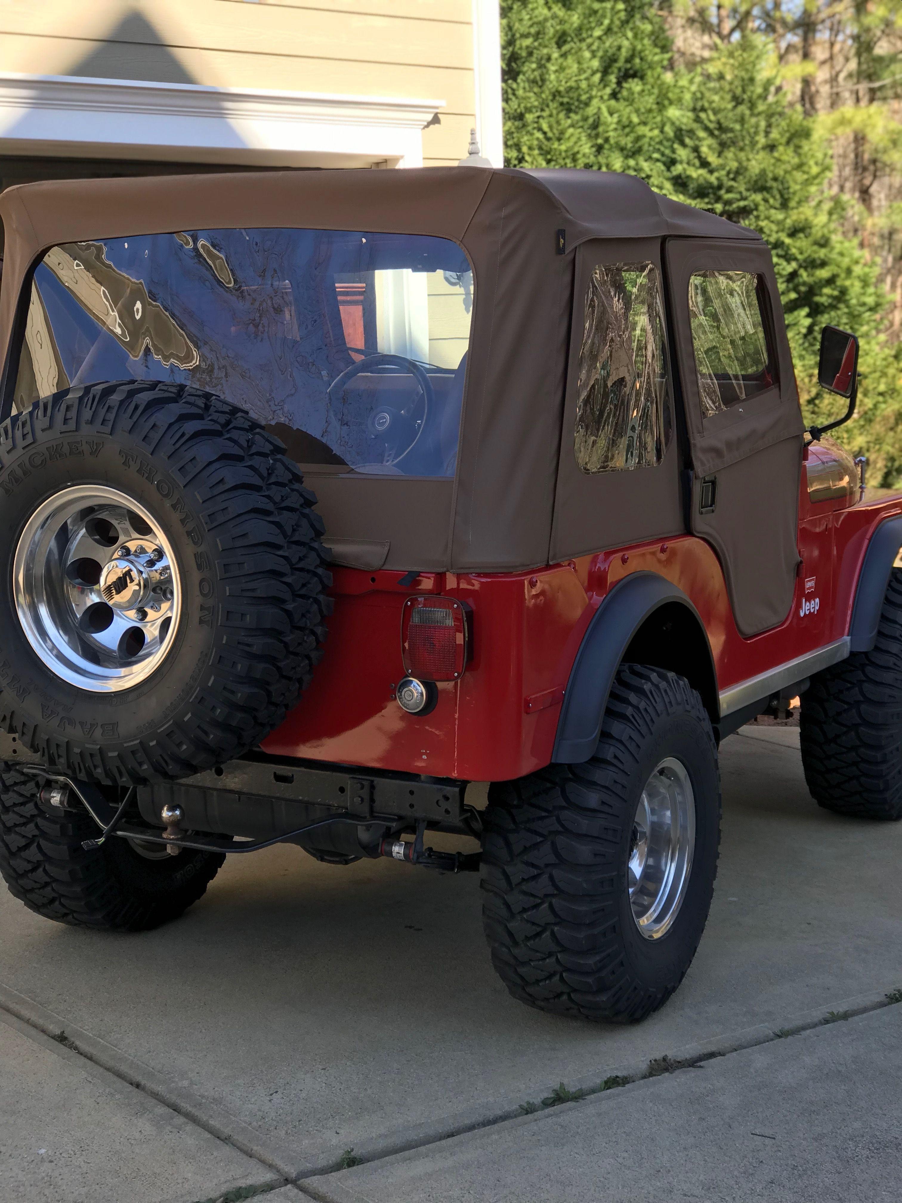 Cj5 Red With Tan Soft Top Jeep Cj Jeep Soft Tops