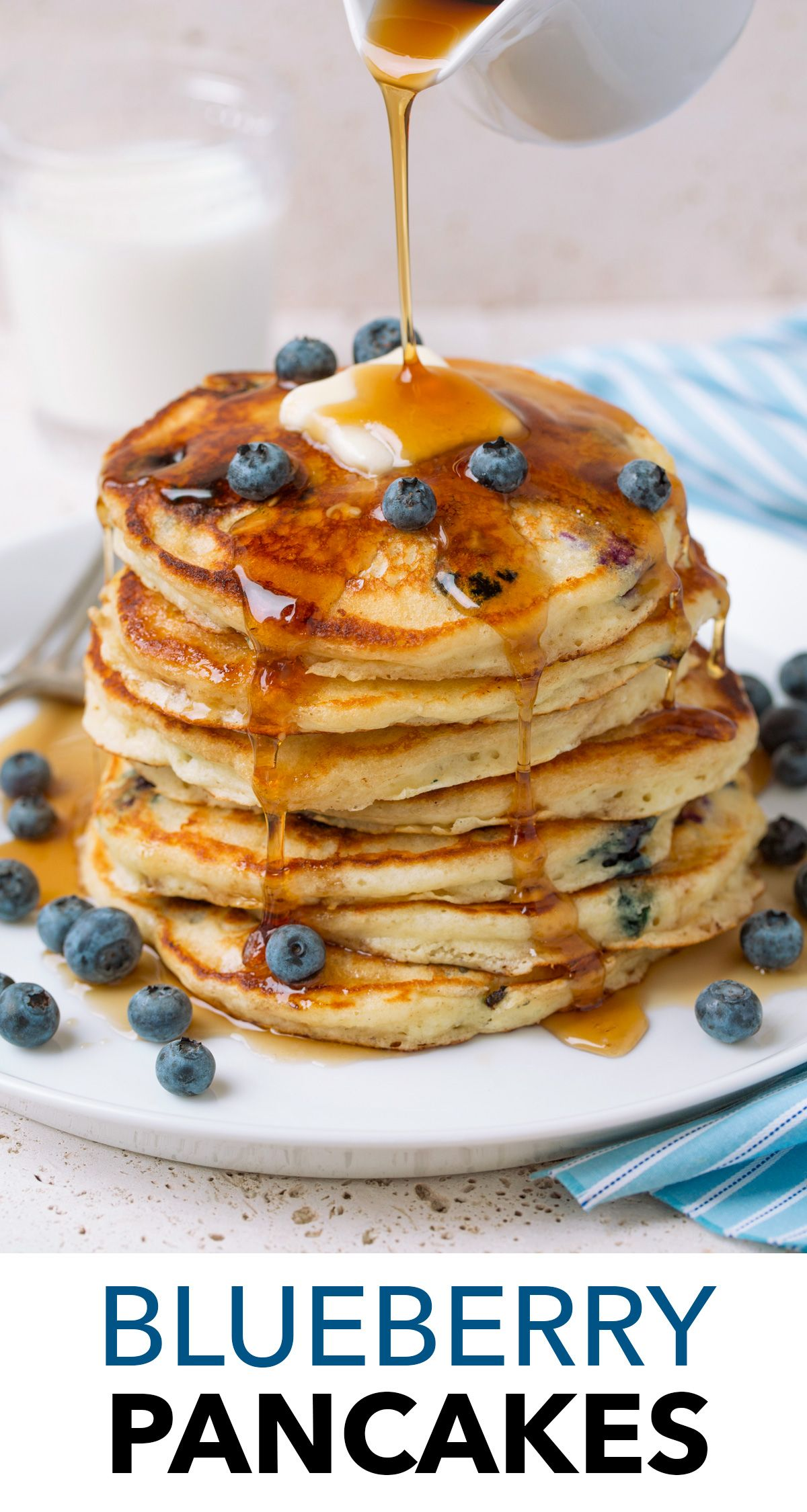 Best Blueberry Pancakes These Are The Tastiest Way To Start The Weekend Mornings They Re Made Wi Pancakes Easy Sour Cream Pancakes Blueberry Pancakes Recipe