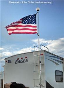 Flagpole Buddy 106001k Aluminum Flag Pole And Ladder Mount Kit 12 X 1 Flag Pole Flag Pole Kits Flag Pole Holder
