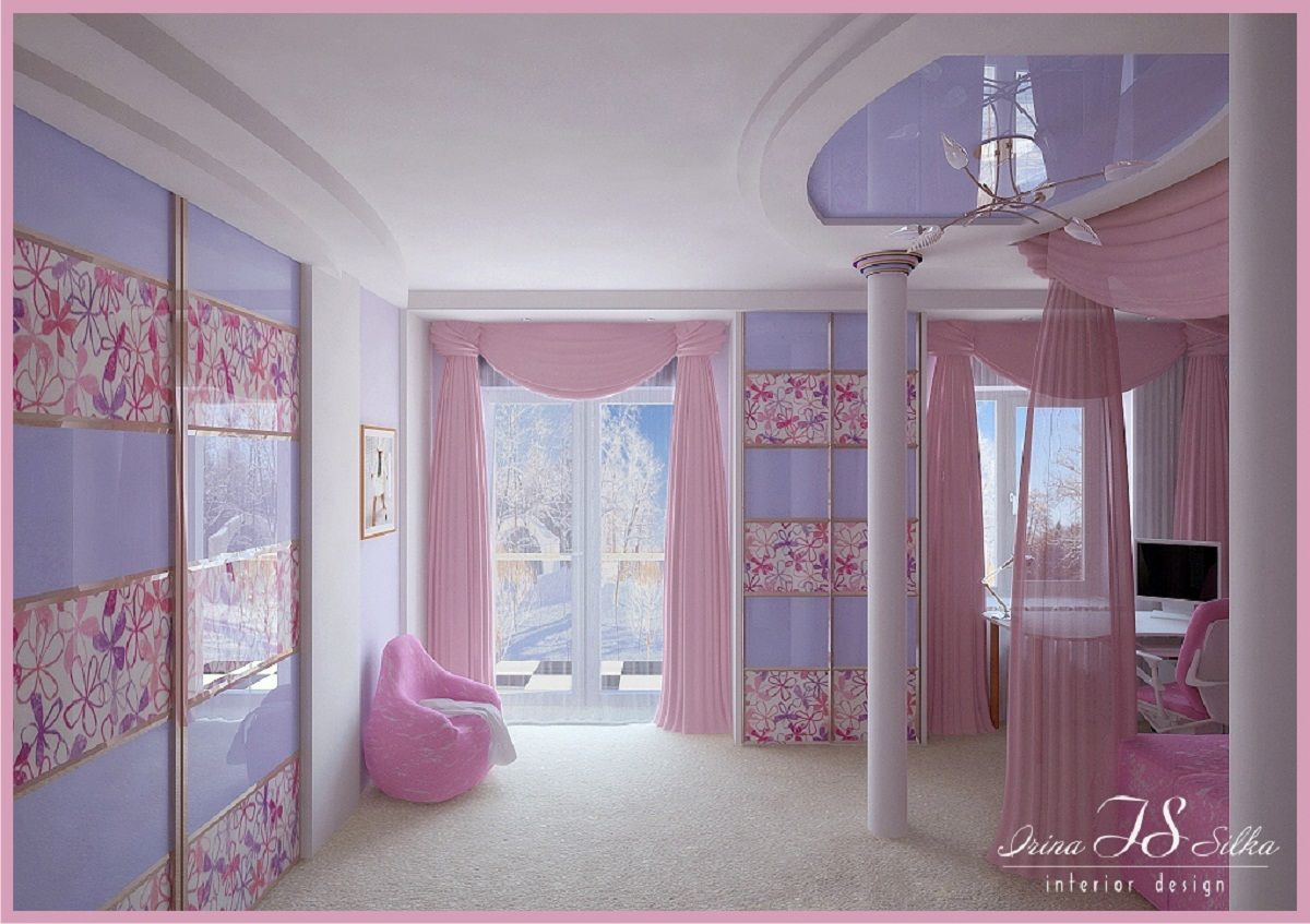Beautiful Curtains For Girls Bedroom Decoration : Pretty Pink Girls ...