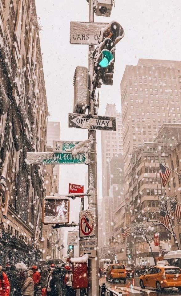 New York City Ny Christmas Phone Wallpaper Wallpaper Iphone Christmas Winter Wallpaper