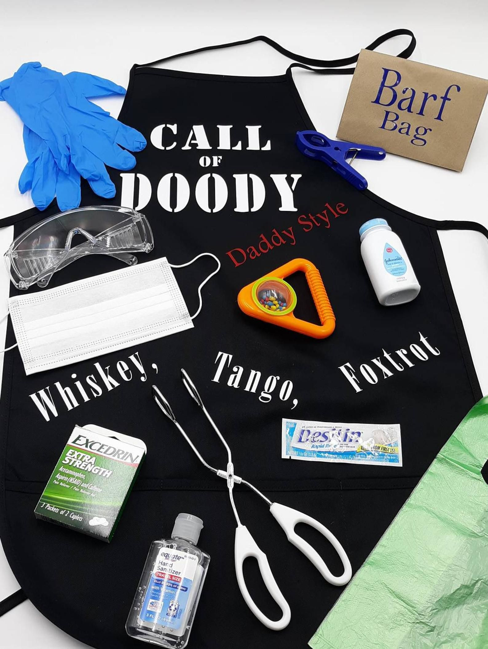 Call of doody daddy doody apron first time dad gift fun