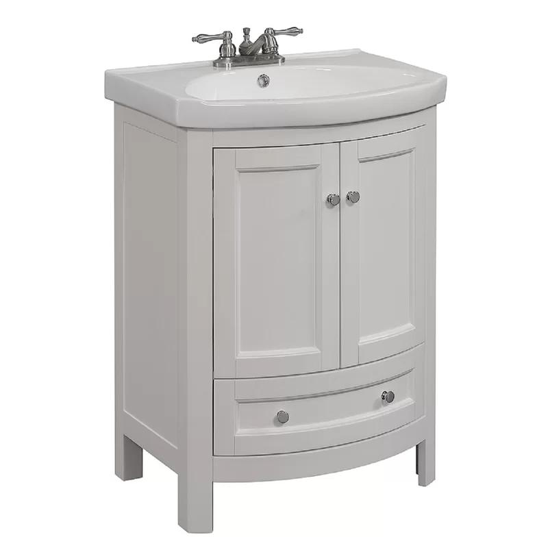 Thibeault 24 Single Bathroom Vanity Set In 2021 Small Bathroom Vanities 24 Inch Bathroom Vanity Single Bathroom Vanity