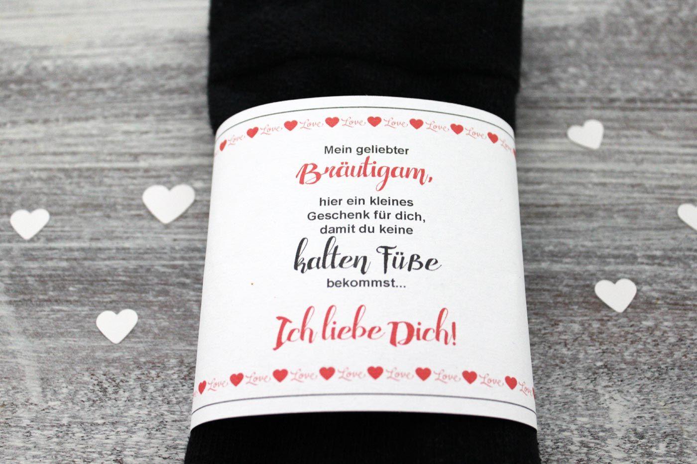 DIY: Bräutigam Socken gegen kalte Füße | Bräutigam socken
