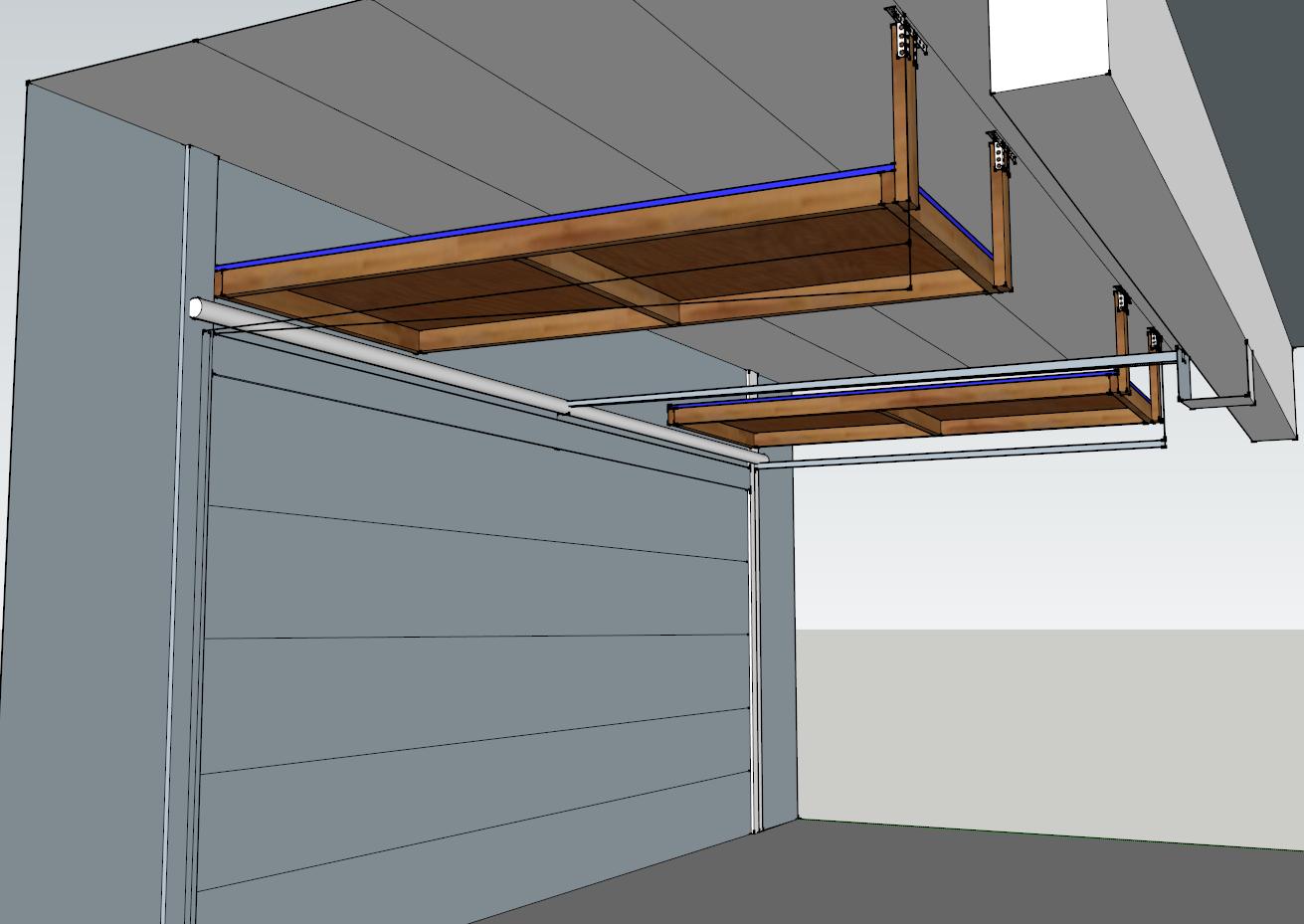 Above Garage Door Storage Project DIY (#QuickCrafter ...