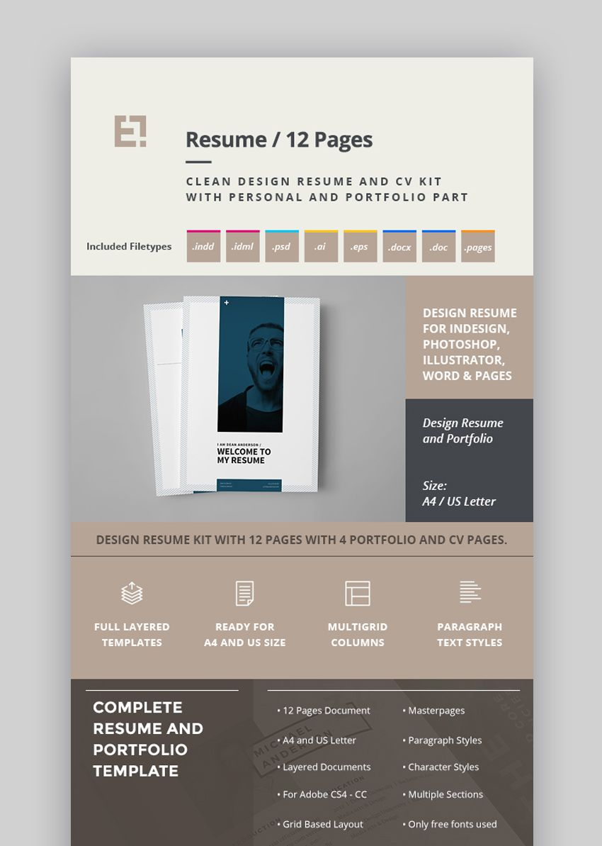 30 Best Job Resume CV Templates With Simple Professional