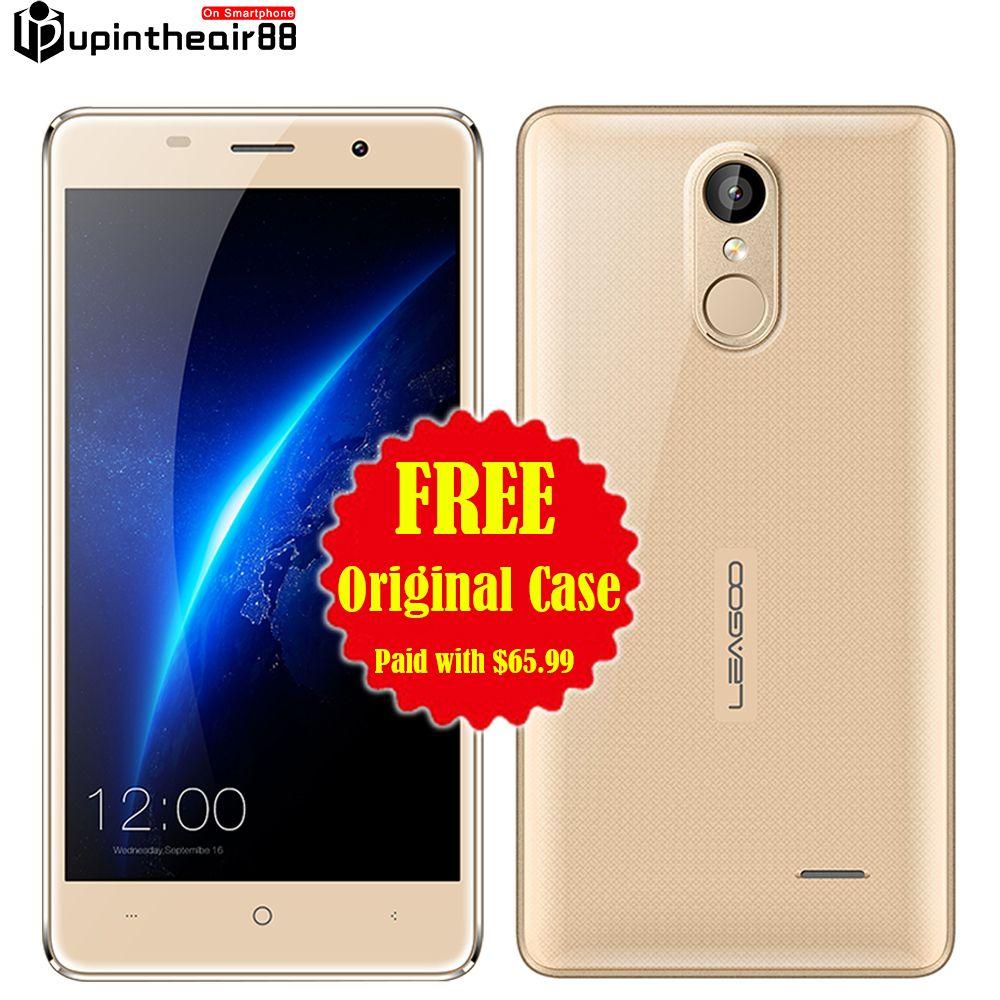 Originele leagoo m5 quad core schokbestendig smartphone 2 gb ram 16 gb rom android os 6.0 mtk6580 3g wcdma vingerafdruk metalen dual sim