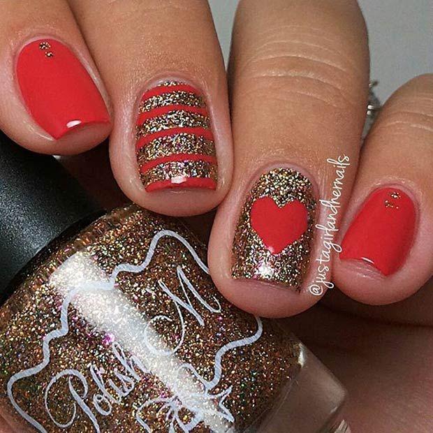 35 cute valentines day nail art designs - Cute Nail Designs For Valentines Day