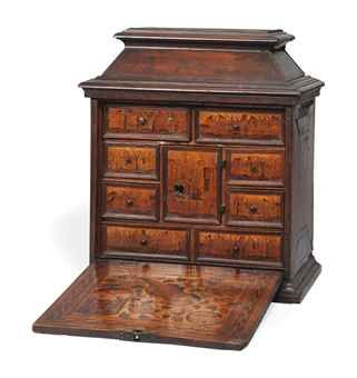 Photo of A SOUTH GERMAN MARQUETRY TABLE CABINET  , PROBABLY AUGSBURG, EARLY 17TH CENTURY