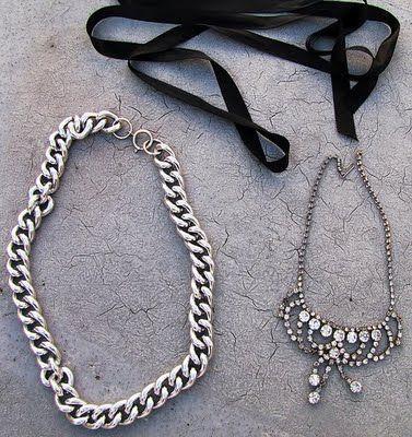 Easy Vintage Ribbon Necklace Vintage Rhinestone Necklace Diy Necklace Rhinestone Necklace Diy