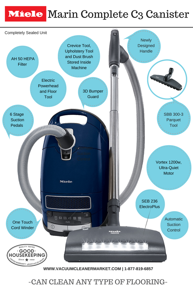 Miele Marin Complete C3 Vacuum Cleaner Consumer Reports Best Canister Vacuum And Best Vacuum Filtration 3 Years And Counting Vacuum Cleaner Vacuum Cleaner Brands Vacuums