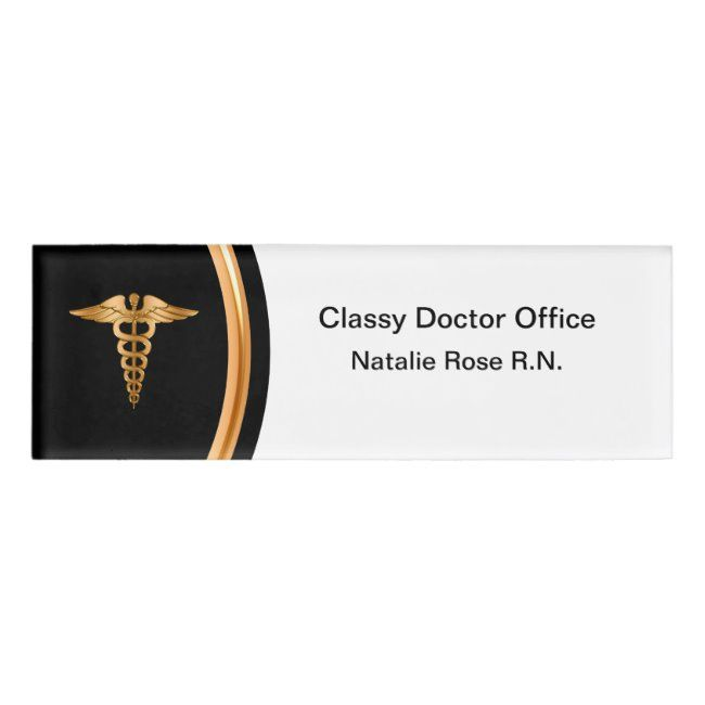 Classy Registered Nurse Doctor Office Staff Name Tag | Zazzle.com