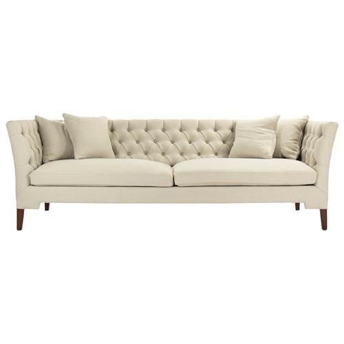 Eon Modern Classic Angular Beige Tufted Sofa Sofa Tufted Sofa