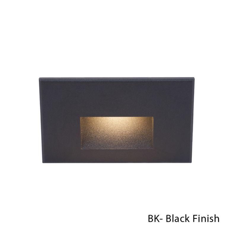 Wac Lighting Wl Led100 C 1 Light Led Rectangular Step Black Outdoor Landscape Hardscape Lights