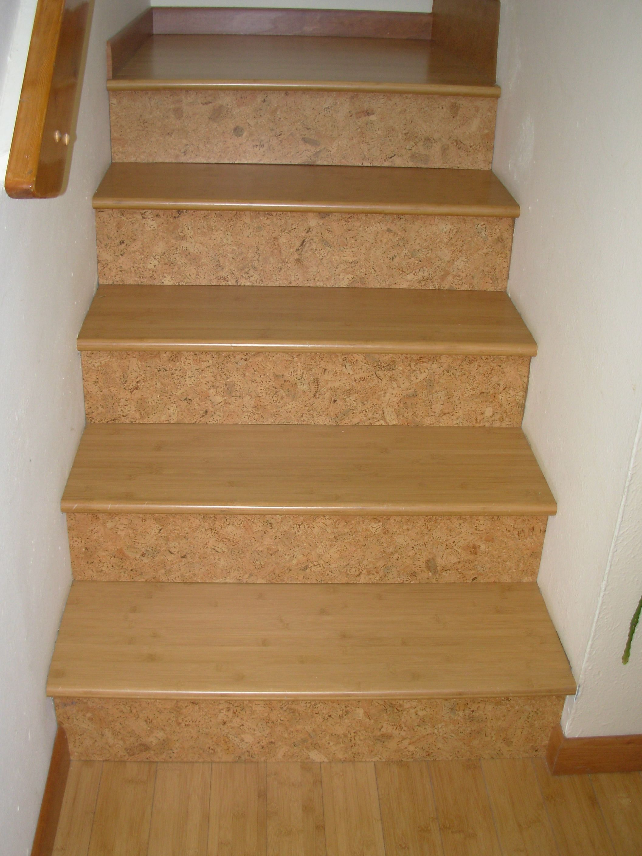 Cork Risers Compliment The Bamboo Stairtreads And Landings!