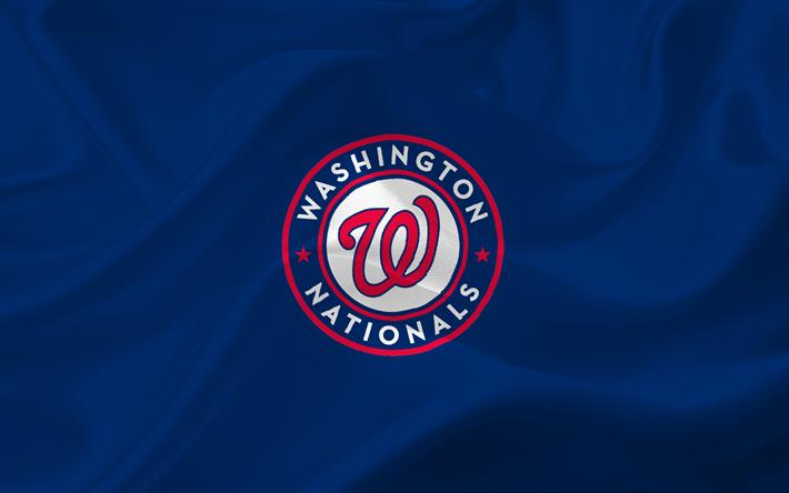 Download Wallpapers Washington Nationals Baseball Usa Mlb Emblem Logo Major League Baseball Washington Baseball Team Besthqwallpapers Com Washington Nationals Logo Washington Nationals Baseball Washington Nationals