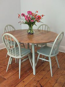 Ercol Vintage Table And Chairs Dining Room Small Ercol Dining
