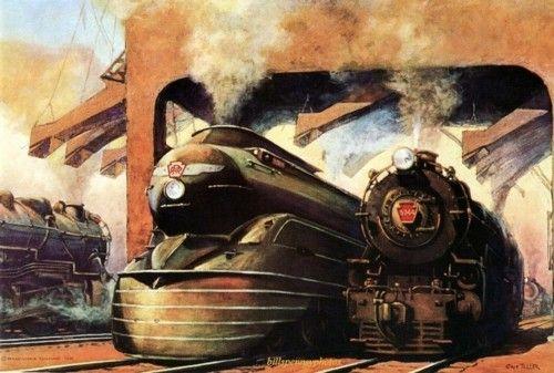 dieselpunk trains
