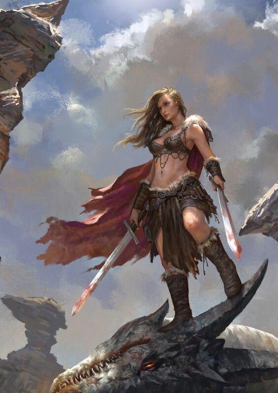 Female human barbarian d d characters fantasy artwork - Fantasy female warrior artwork ...