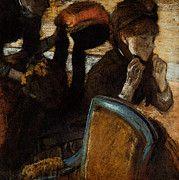 """New artwork for sale! - """" Degas Edgar At The Milliner S by Edgar Degas """" - http://ift.tt/2ooUEi3"""