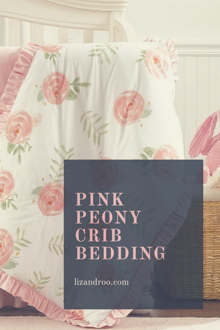 Full Crib Bedding Sets Pink Peony Crib Bedding Set 4 Pc Set With Quilt Baby Girl