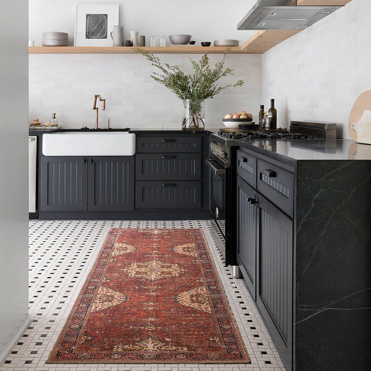 Black Kitchen Floor Runner: Loren Runner In 2019