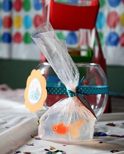 Fish in a bag homemade soap!  Perfect prize for a county fair party...would be more well received by parents than real fish!