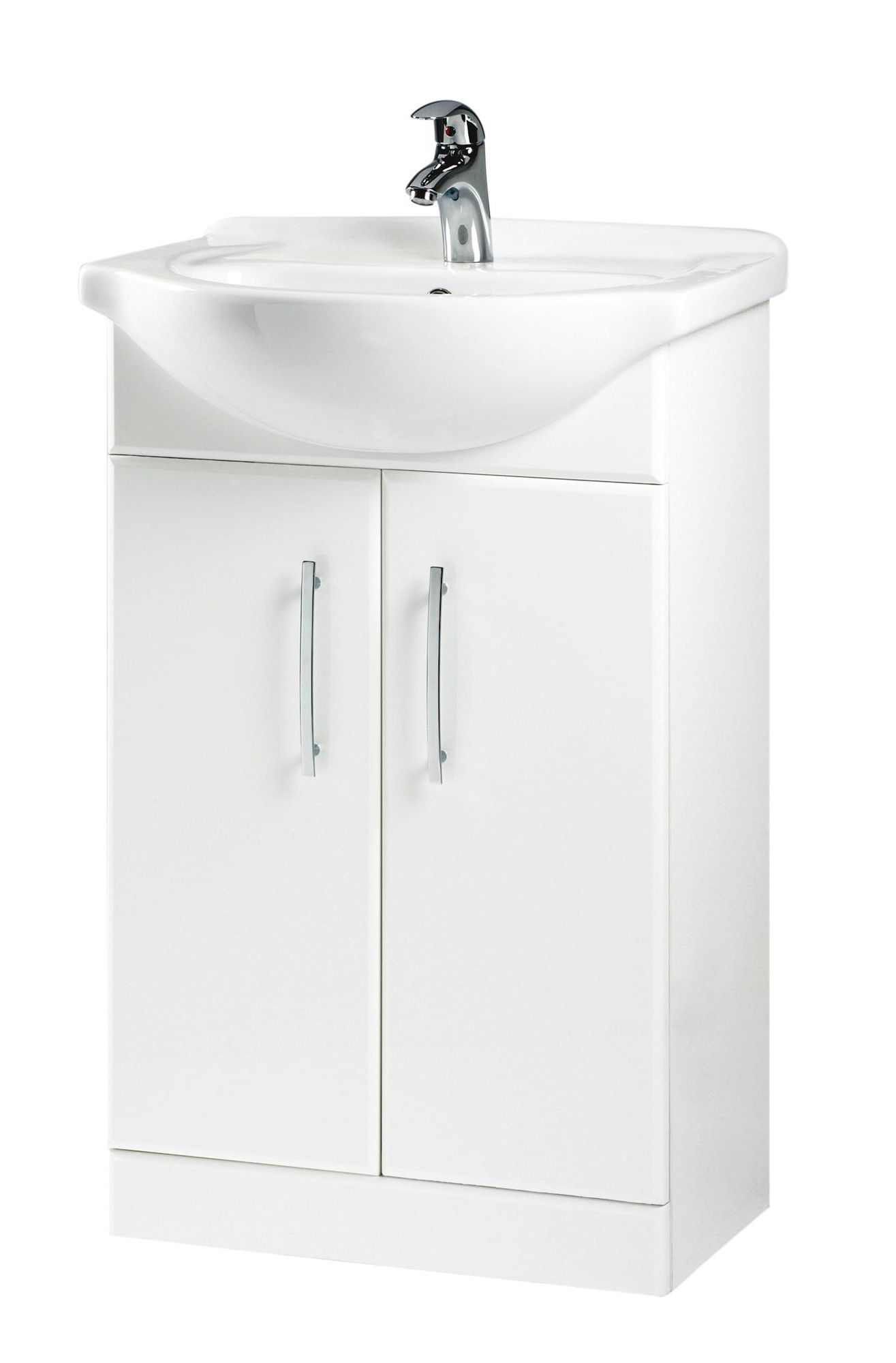 b q white vanity unit basin departments diy at b q from B&Q Bathroom ...