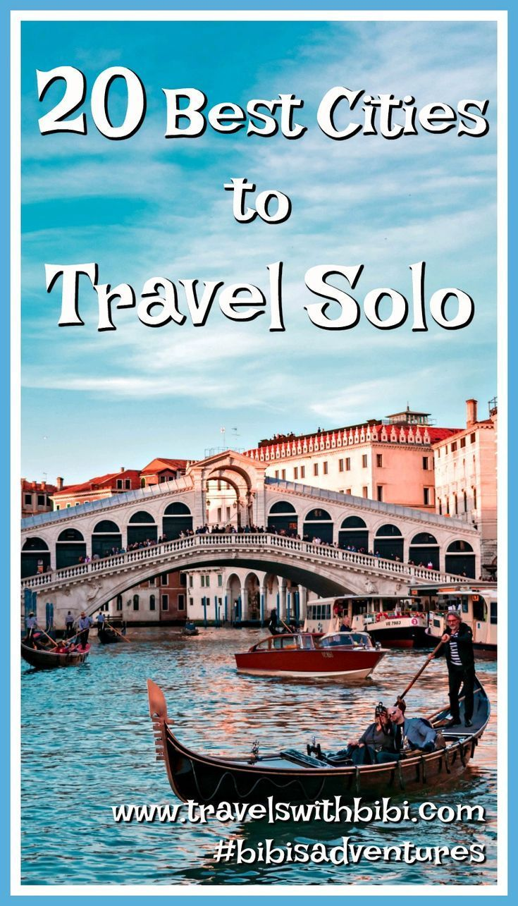 Are you single or just prefer to travel alone? This travel guide is for you! Discover the 20 best cities where you can enjoy your solo travel and still be safe and have a plenty of fun when traveling alone. #solotravel #travelalone #solovacation #singletravel #safesolotravel #traveltips #travel #bibisadventures