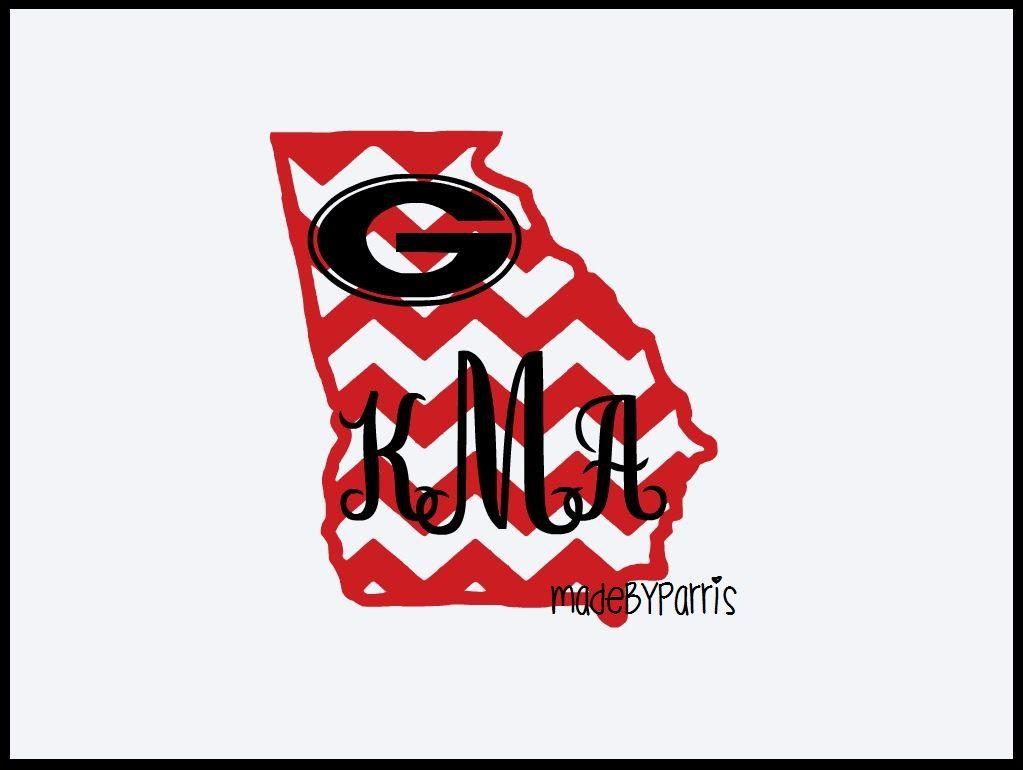 Georgia Bulldogs State Monogram Decal Ga Decal Monogram Decal Georgia Decal Car Decal Yeti Decal Personalized Deca Htv Shirts Monogram Decal Vinyl Shirts [ 770 x 1023 Pixel ]