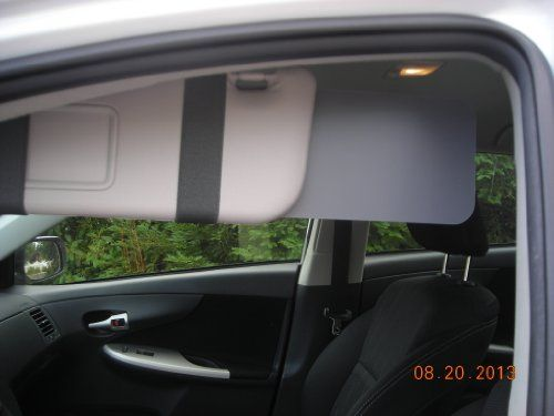 Custom made Sun Visor Extender!  Very affordable! Here is an excellent solution for your car's sun visor.