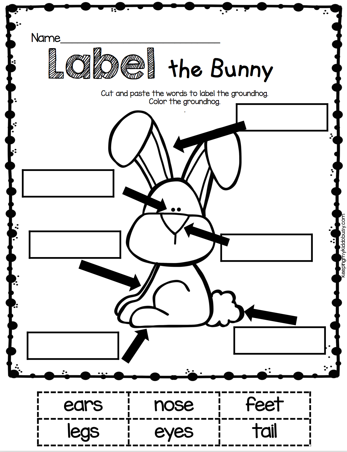 April in Kindergarten FREE WORKSHEETS Kindergarten