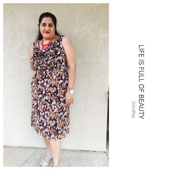 Printed plus size dress