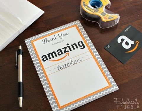 amazing teacher amazon gift card gift