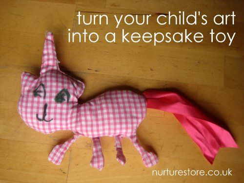 Can your children sew? This is a step-by-step guide for them to turn their art into a keepsake toy.