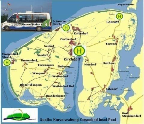 Karte Insel Poel Und Umgebung.Insel Poel Rundfahrt Www Insel Poel Rundfahrten De