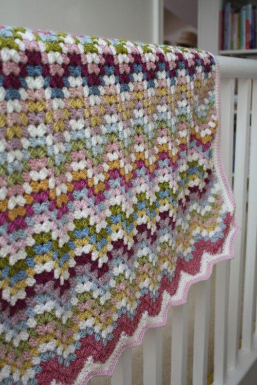 Fantástico Patrón Manta Crochet Ondulación Composición - Ideas de ...