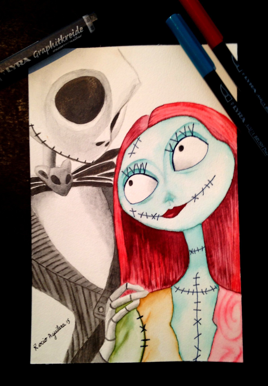 8ce8cd6e63a Como pintar a Jack y Sally de El extraño mundo de Jack por Rocio Aguilera