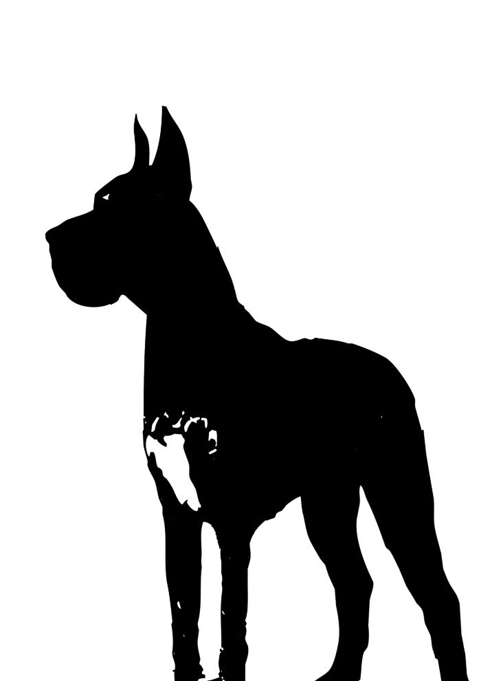Great Dane Dog Silhouette Art Print By Ialbert Society6 Great