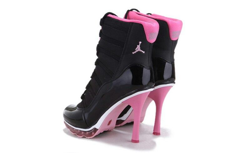 Ladies air jordan heel's | Jordan high heels, Jordan heels