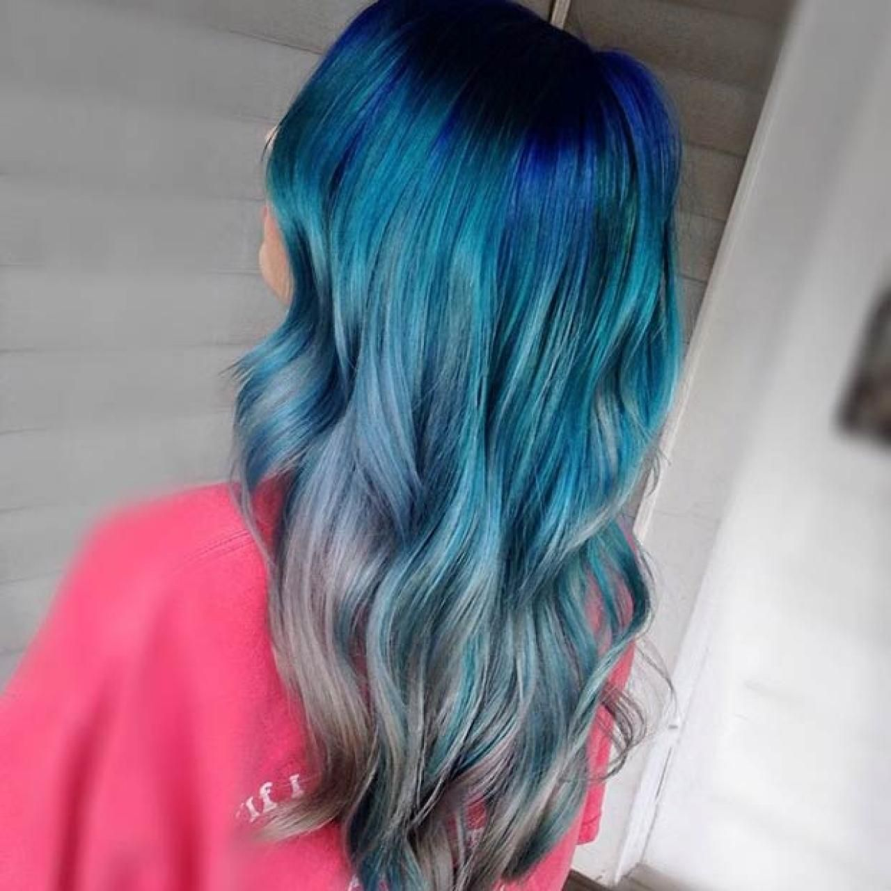 Blue ombre hair hair inspirations pinterest ombre hair ombre