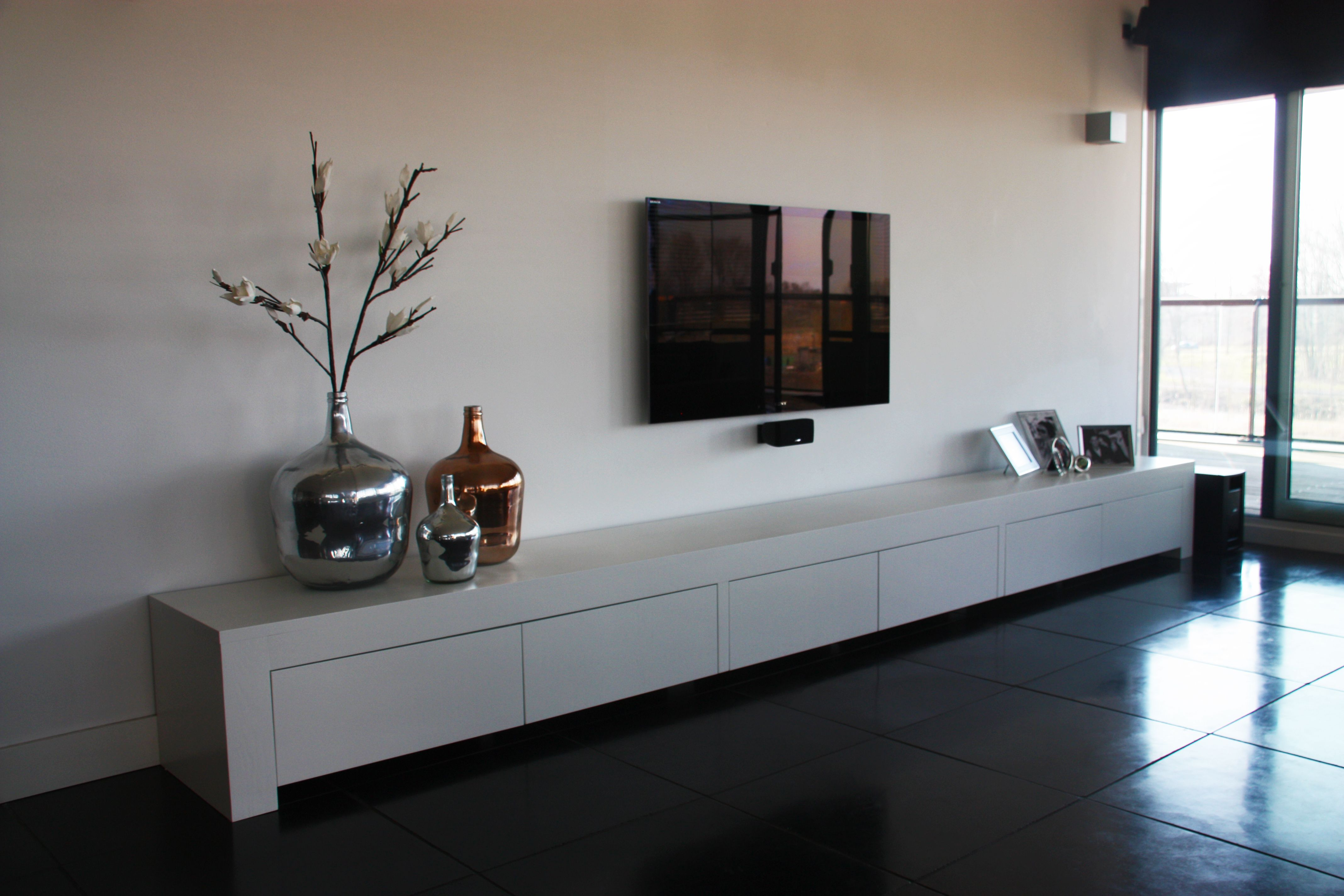TV meubel 4 meter lang voor woonkamer | Beautiful walls | Pinterest ...