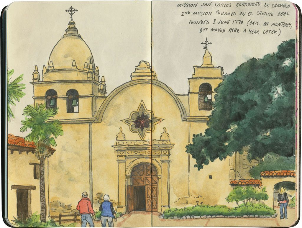California mission style architecture - Mission San Carlos Borromeo De Carmelo Is The Only California Mission With Its Original Dome Intact