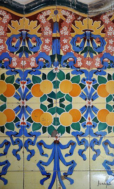 Bcn Art Nouveau Art Design Mosaic Tiles