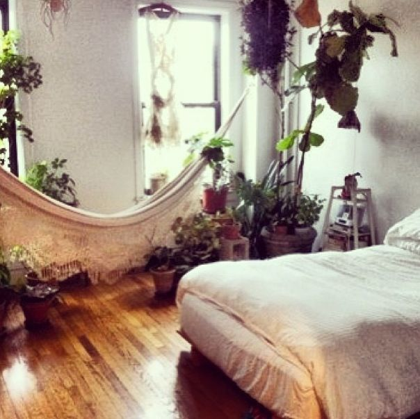 Boho Bedroom Dreamy Bohemian Complete With Houseplants And A Hammock On Style Tagged At Home Design Gallery